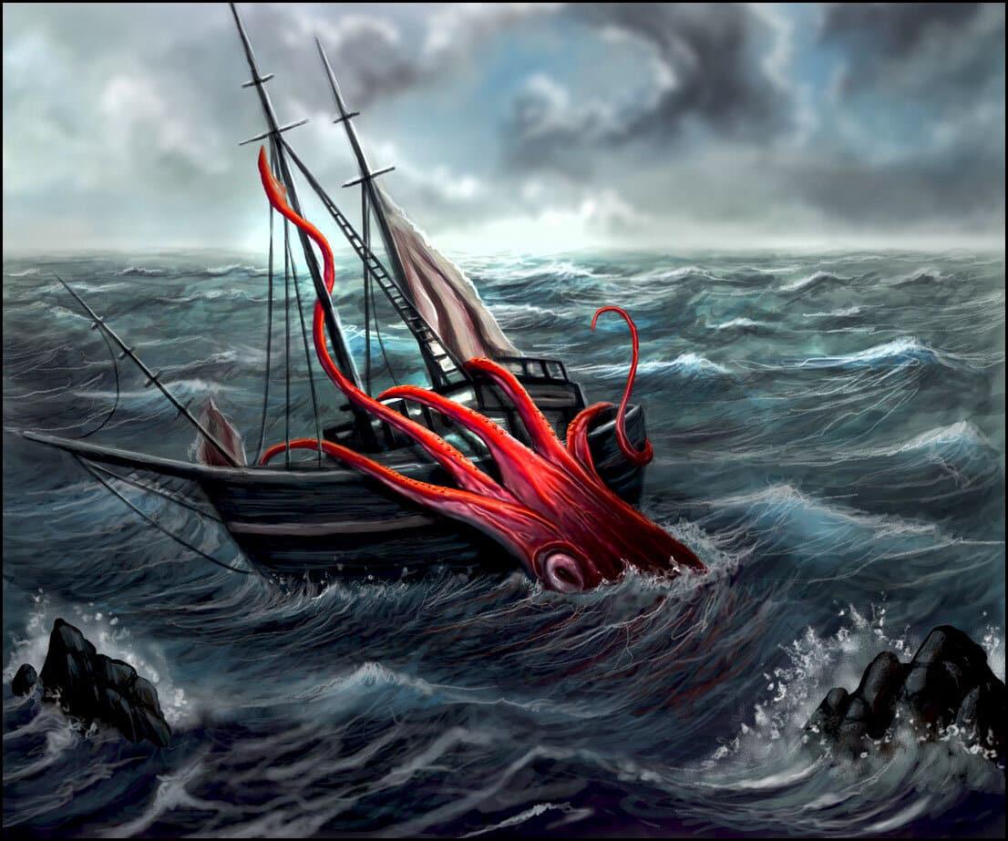 الحبار في البحر