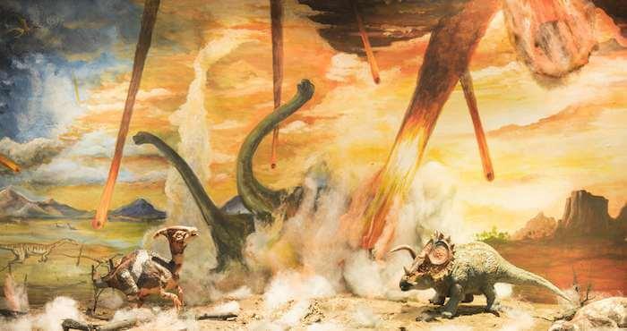 أسباب انقراض الديناصورات