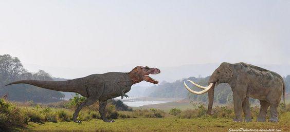 الماموث و الديناصورات